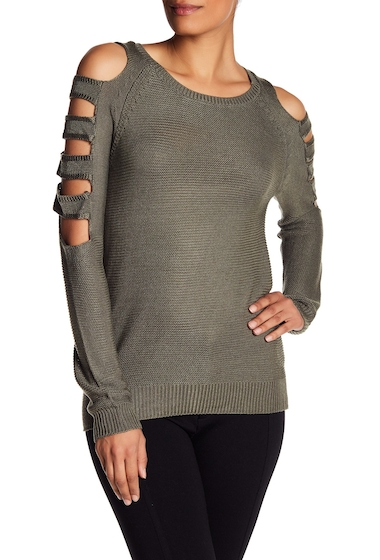 Imbracaminte Femei Poof Cutout Long Sleeve Sweater BURNT OLIVE