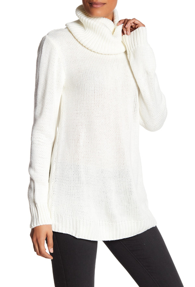 Imbracaminte Femei Poof Cowl Neck Bow Back Sweater IVORY BLACK