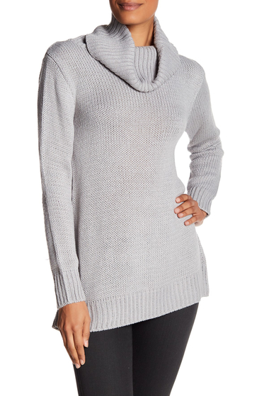 Imbracaminte Femei Poof Cowl Neck Bow Back Sweater CONCRETE GREY
