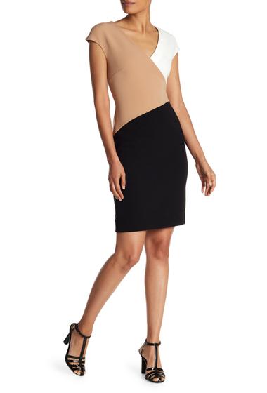Imbracaminte Femei Diane Von Furstenberg V-Neck Banded Dress CAMELBLAC