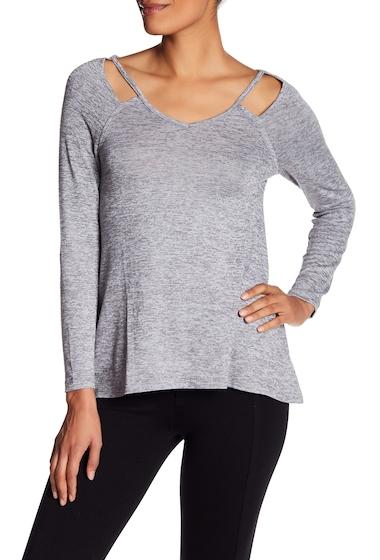 Imbracaminte Femei Poof Cutout Long Sleeve Shirt BLACK STREAK