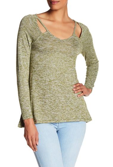 Imbracaminte Femei Poof Cutout Long Sleeve Shirt OLIVE STREAK