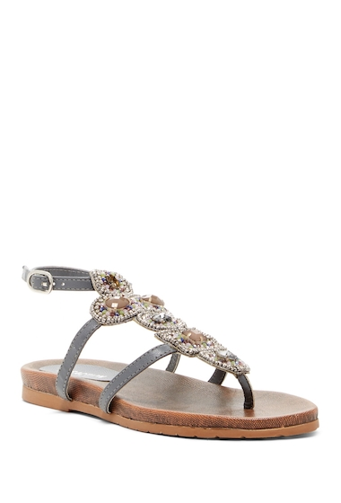 Incaltaminte Femei Kenneth Cole Reaction Chase Me Beaded Sandal CHARCOAL