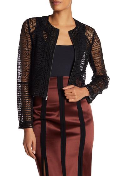 Imbracaminte Femei Diane Von Furstenberg Arlette Lace Crop Jacket BLACK