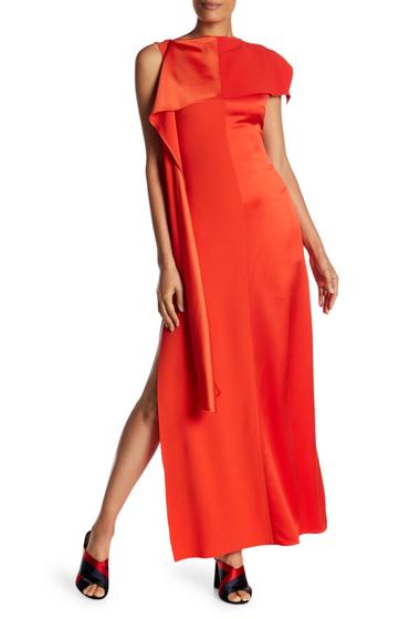 Imbracaminte Femei Diane Von Furstenberg Shoulder Sash Gown BRIGHT RED