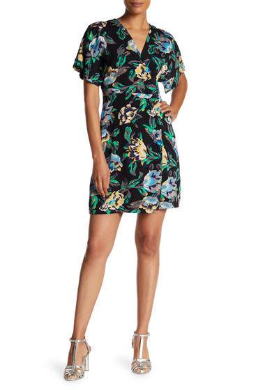 Imbracaminte Femei Diane Von Furstenberg Tropical Floral Dress BENTON BLACK