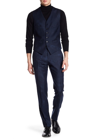 Imbracaminte Barbati John Varvatos Collection Austin Slim Fit Wool Trouser INDIGO HTH