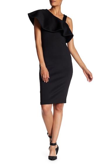Imbracaminte Femei Modern American Designer Asymmetrical Popover Scuba Dress BLACK