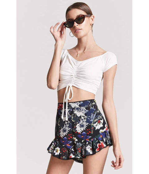 Imbracaminte Femei Forever21 Ruched Off-the-Shoulder Crop Top WHITE