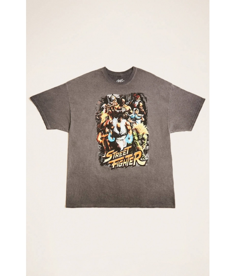 Imbracaminte Barbati Forever21 Street Fighter Graphic Tee CHARCOALWHITE