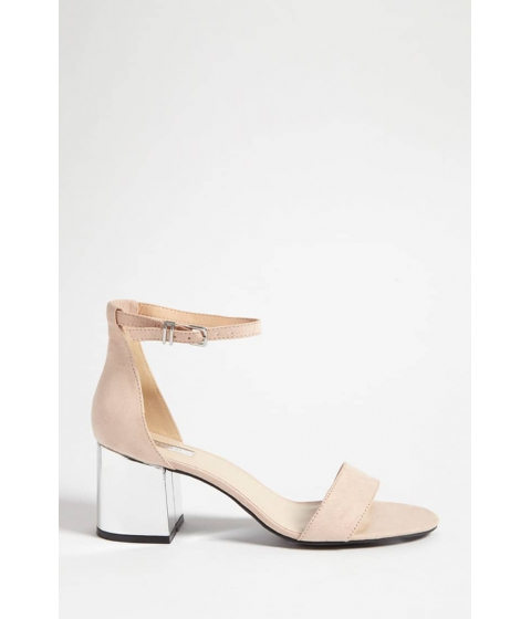 Incaltaminte Femei Forever21 Faux Suede Chunky Heels NUDE