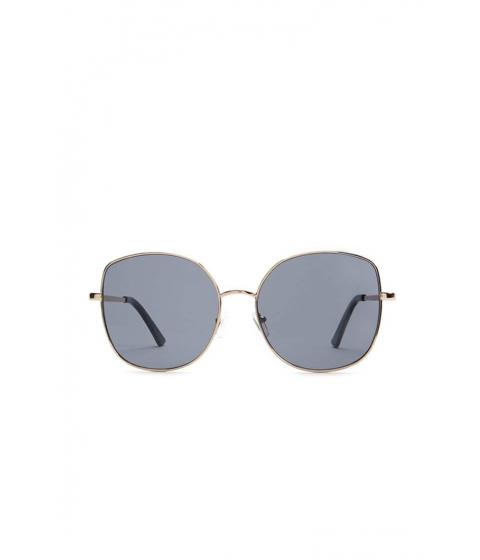 Ochelari Femei Forever21 Metal Square Sunglasses GOLDBLACK