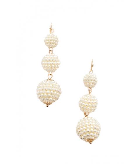 Bijuterii Femei Forever21 Faux Pearl Drop Earrings CREAMGOLD