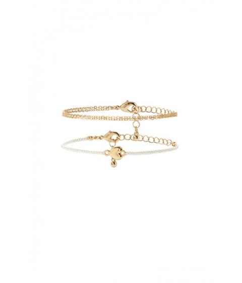 Bijuterii Femei Forever21 Heart Charm Bracelet Set CREAMGOLD