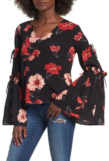 Imbracaminte Femei Leith Tie Bell Sleeve Top BLACK EXPRS FLR