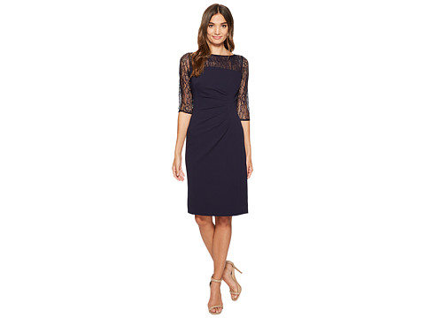 Imbracaminte Femei Tahari by ASL Lace Sleeve Sheath Dress Navy