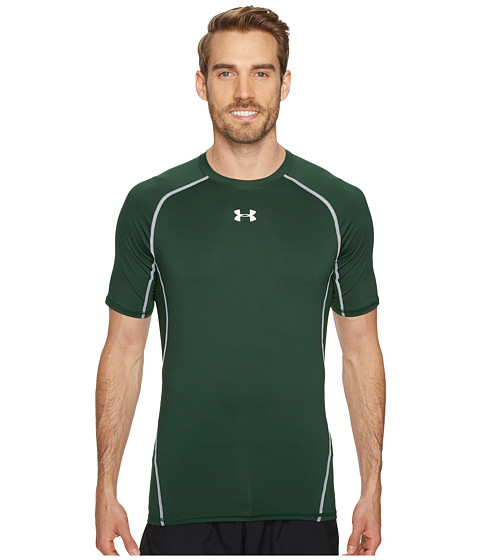 Imbracaminte Barbati Under Armour Armourreg Heatgearreg SS Tee Forest GreenWhite
