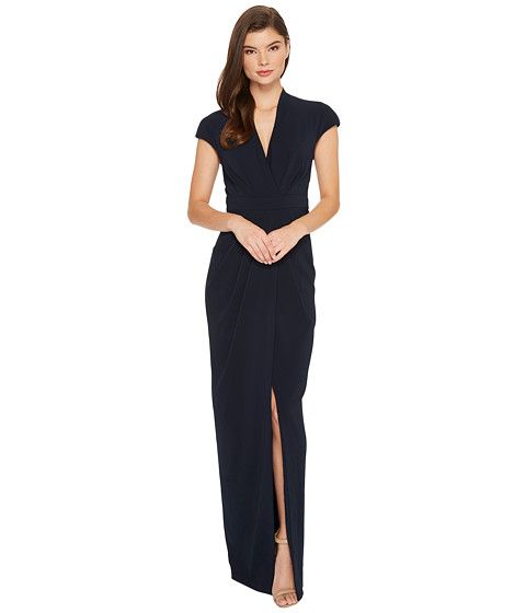 Imbracaminte Femei Badgley Mischka Cap Sleeve Crepe Dress Navy