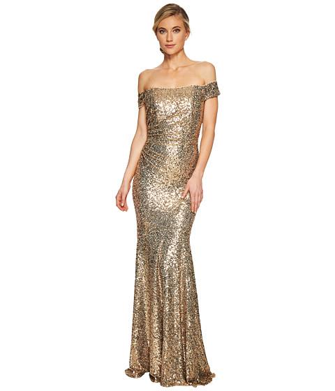 Imbracaminte Femei Badgley Mischka Sequin Off the Shoulder Siren Gold