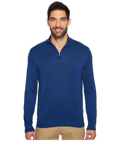 Imbracaminte Barbati The Kooples Long Sleeve 14 Zip Sweater True Navy