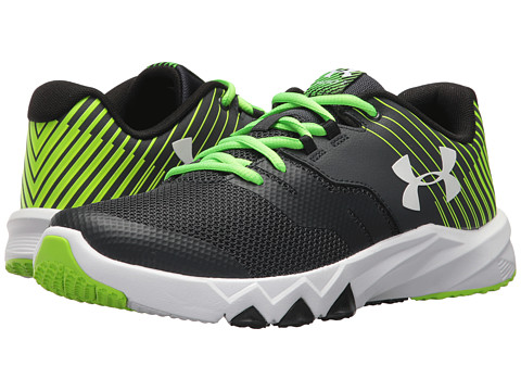 Incaltaminte Baieti Under Armour UA BGS Primed 2 (Big Kid) AnthraciteHyper GreenWhite