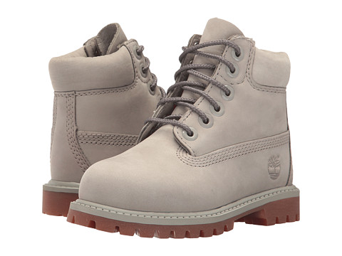 Incaltaminte Fete Timberland 6quot Premium Waterproof Boot (ToddlerLittle Kid) Flint Grey Waterbuck