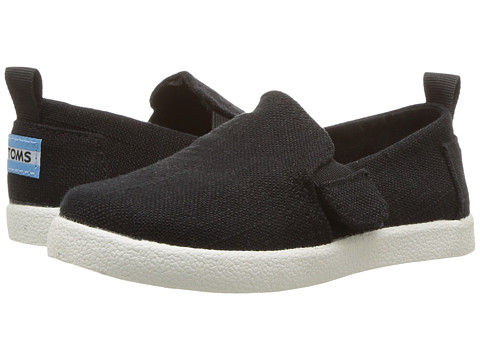 Incaltaminte Baieti TOMS Avalon (InfantToddlerLittle Kid) Black Washed Cotton