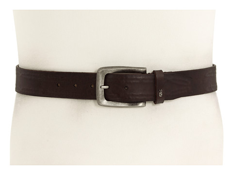 Accesorii Barbati John Varvatos 38mm Strap with Leather Covered Hand Stitch Brown LeatherNickel
