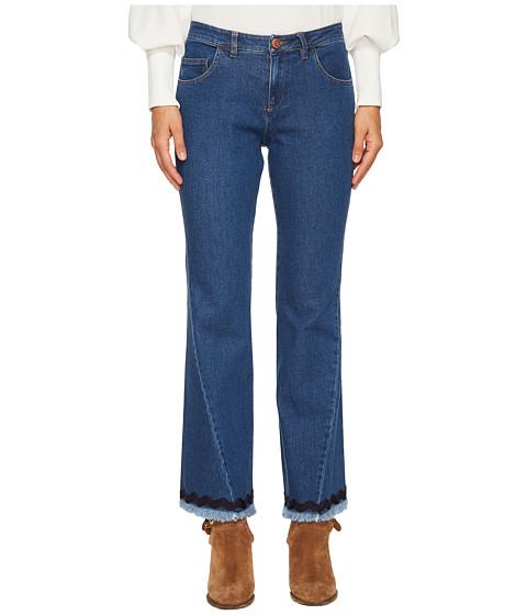Imbracaminte Femei See by Chloe Denim Scalloped Trim Jeans Shady Cobalt