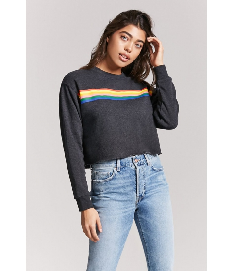 Imbracaminte Femei Forever21 Rainbow Graphic Pullover CHARCOAL
