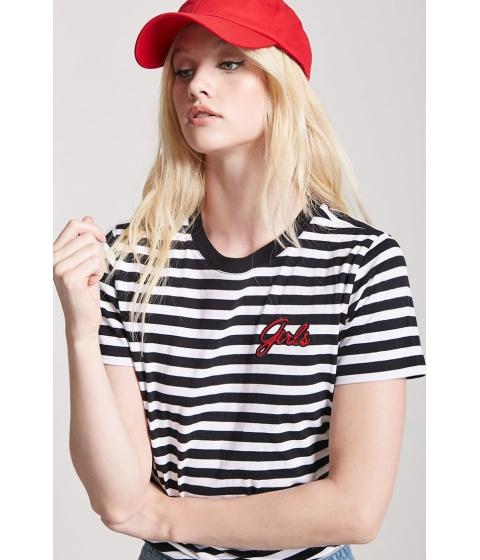 Imbracaminte Femei Forever21 Stripe Girls Graphic Tee BLACKWHITE