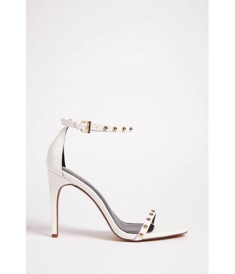 Incaltaminte Femei Forever21 Open-Toe Stud Heels WHITE