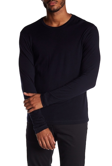 Imbracaminte Barbati Vince Loose Knit Long Sleeve Sweater COASTAL BLUE