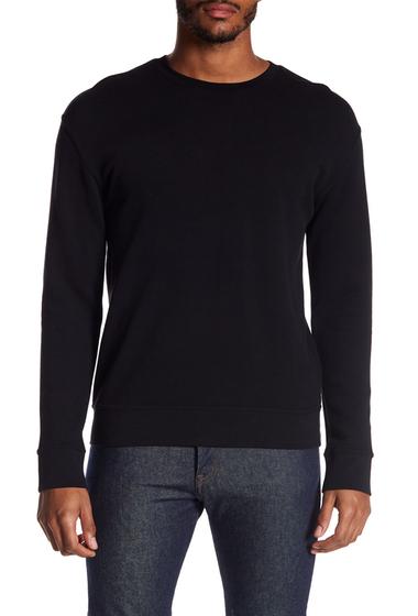 Imbracaminte Barbati Vince Seamed Crew Neck Sweater BLACK