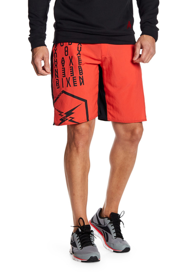 Imbracaminte Barbati Reebok Contrast Print Shorts GLWRED