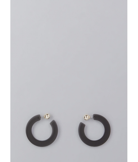 Bijuterii Femei CheapChic Retro Party Banded Hoop Earrings Black