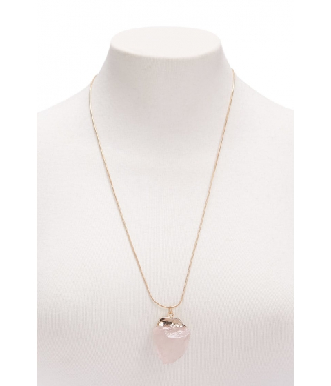 Bijuterii Femei Forever21 Faux Crystal Longline Pendant Necklace GOLDBLUSH
