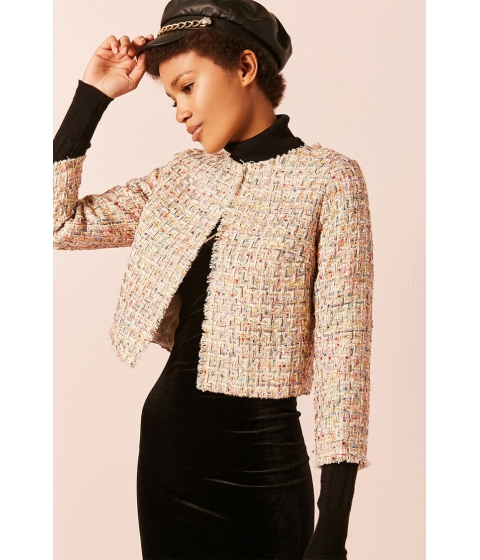Imbracaminte Femei Forever21 Multicolor Tweed Jacket IVORY