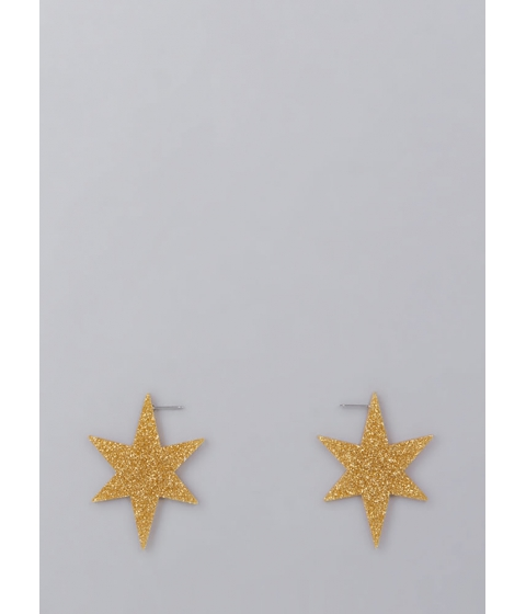 Bijuterii Femei CheapChic Ka-boom Glittery Star Earrings Gold