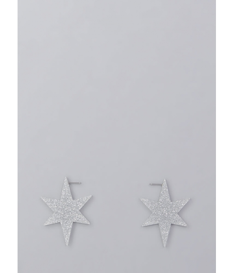 Bijuterii Femei CheapChic Ka-boom Glittery Star Earrings Silver