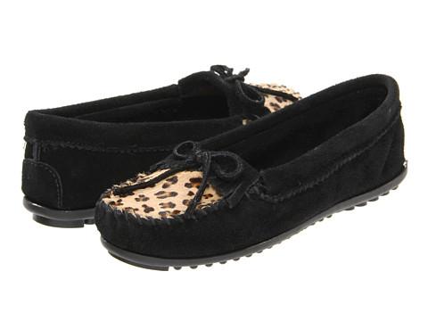Incaltaminte Femei Minnetonka Leopard Kilty Moc Black