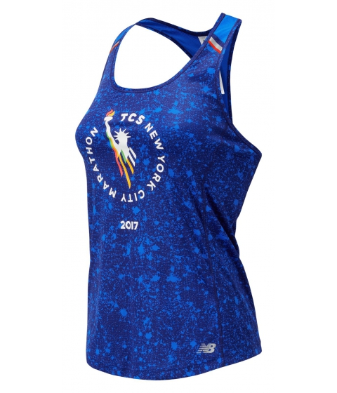Incaltaminte Femei New Balance Womens NYC Marathon NB Ice Printed Tank Blue