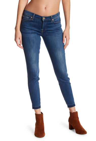Imbracaminte Femei 7 For All Mankind Gwenevere Ankle Skinny Released Hem Jeans BRTSTCKHLM