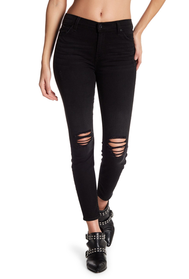 Imbracaminte Femei 7 For All Mankind Gwenevere High Waist Distressed Skinny Jeans AGEDBLACK2