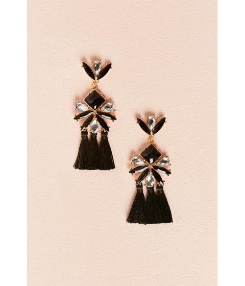 Bijuterii Femei Forever21 Rhinestone Drop Earrings BLACKGOLD