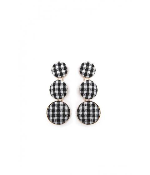 Bijuterii Femei Forever21 Gingham Drop Earrings BLACKGOLD