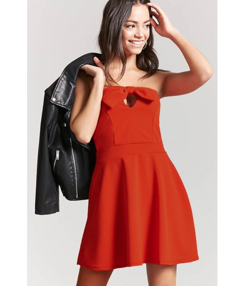 Imbracaminte Femei Forever21 Sweetheart Tube Dress RED