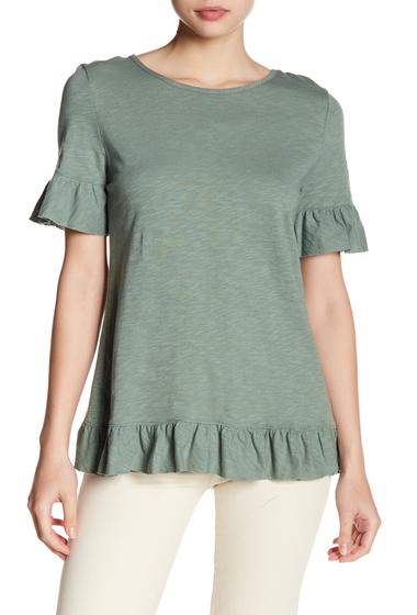 Imbracaminte Femei Tart Asymmetrical Ruffle Blouse OLIVE