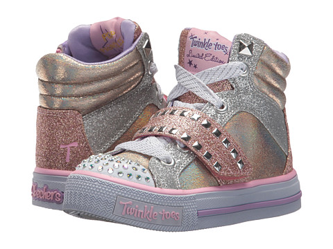 Incaltaminte Fete SKECHERS Shuffles 10854L Lights (Little KidBig Kid) Rose Gold