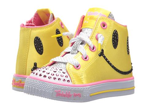 Incaltaminte Fete SKECHERS Shuffles 10855N Lights (Toddler) YellowHot Pink